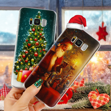 Christmas Santa Claus Coque For Samsung Galaxy J1 J2 J3 J5 J7 S3 S4 S5 S6 S7 Edge S8 Plus A3 A5 2016 2017 Core Grand Prime Case