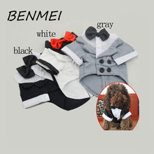 BENMEI Dog Clothes Summer  Western Style Male Wedding Dog Suit & Bow Tie Puppy Pet Dog Costume Western Style Pet Dogs Clothes