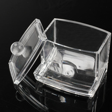 Clear Acrylic Storage Holder Box Cotton Swab Q-tip Cosmetic Makeup Case Hogard(China)