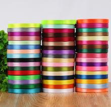 3/8'' 10mm 25Yard Single Face Silk Satin Ribbon Cheap Decorative Gift Wrap Wedding Christmas Crafts White Pink Red Black Ribbons