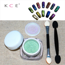 New Nail Art Metal nail Polish Mirror Nail Glitter Powder Shinning Sliver Gold  Chrome Pigment Nail Dust Set for DIY Decorations
