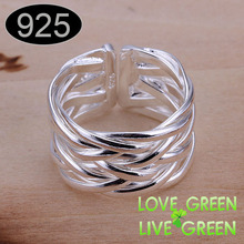 2017 free shipping Fish Net Brand name stamp silver plated colorwholesales fashion rings jewelry jewellry resizable