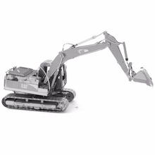 3D Metal Puzzles CAT Excavator Toys 3D Metal Model NANO Puzzles New Styles Chinses Metal Earth DIY Creative Gifts