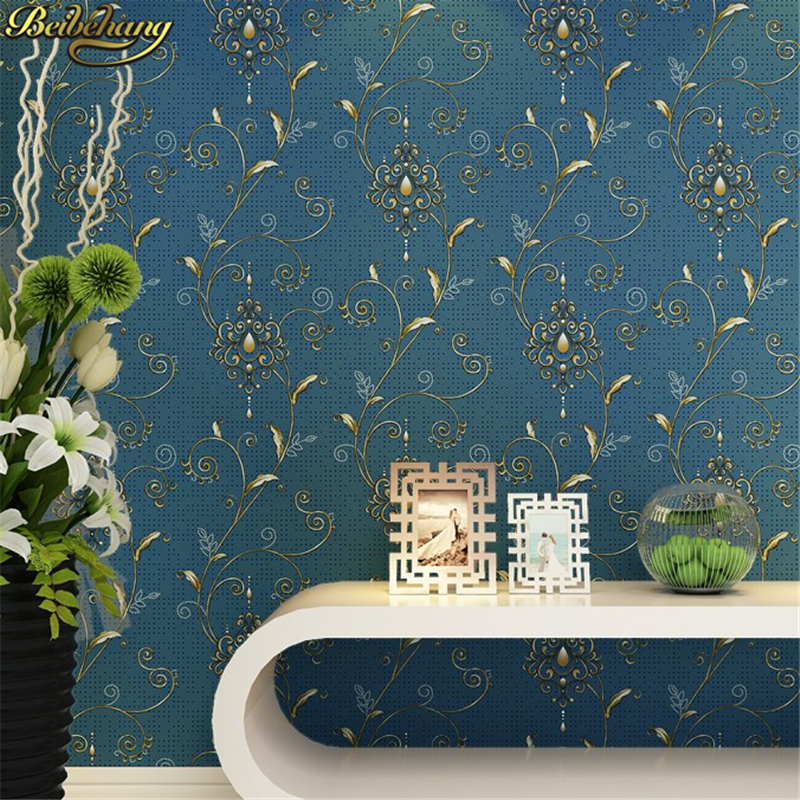 beibehang papel de parede 3d American country pastoral Non Woven wallpapers for living room Silk Wallcovering wall paper bedroom<br>
