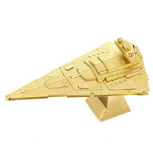 IMPERIAL STAR DESTROYER 3D Gold Jigsaw Metal Stereoscopic Star Wars Puzzle Assemble Model Building Kits Intelligence Spaceship