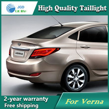Shipping Option Led Tail Lamp for Hyundai Solaris tail lights Accent Verna led tail light drl rear lamp signal+brake+reverse