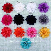 "200pcs/lot 3.6""13 Colors Factory Price Artificial Fashion Porcelain Solid Fabric Lotus Hair Flowers For Christmas Decoration"
