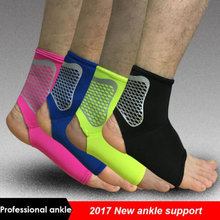 1Pcs Sport Ankle Support 2017 Newest Elastic High Protect Sports Ankle Equipment Safety Running Basketball Ankle Brace Support A