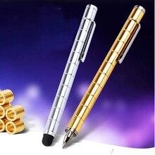 Высокое качество Непоседа фокус магия Магнитная емкость шариковая ручка spinner Tri-Spinner Металлический Шариковая ручка 03655(China)