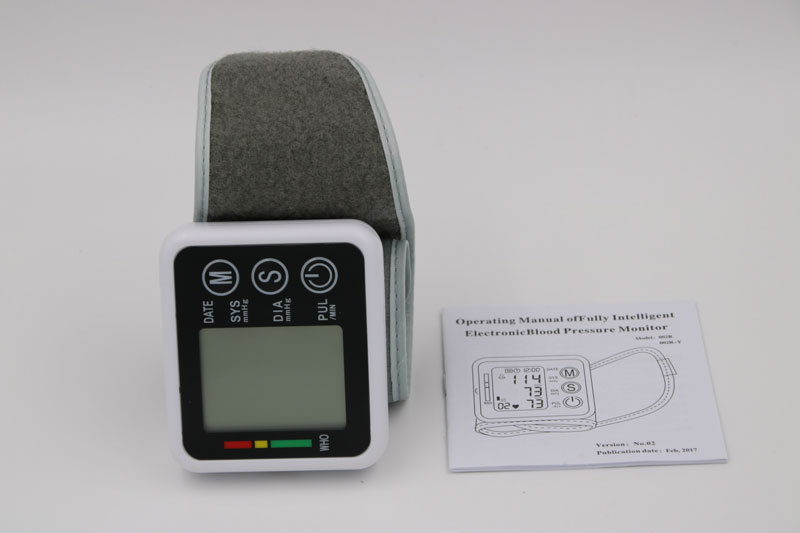 Household Health Care Germany Chip Automatic Wrist Digital Blood Pressure Monitor Tonometer Meter For Measuring And Pulse Rate 17
