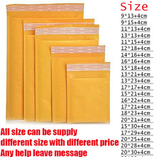 50Pcs/Lot 11*15cm DIY Multifunction Bubble Mailers Padded Envelopes Bags Kraft Bubble Mailing Envelope Bags(China)