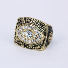 USA size 9 to 14! 1981 San Francisco 49ers Super Bowl 16 world championship rings replica MONTANA solid ring drop shipping(China)