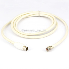 IEC/TV Male to F type Male Coaxial TV Satellite Antenna Cable 1.8M 75-5 Cable Type