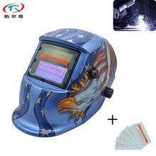 trqwh Blue American Eagle Fast Ship PP Welding Equipment Adjustable Welding Mask Warranty 2year Auto Darkening TRQ-HD54-2200DE(China)