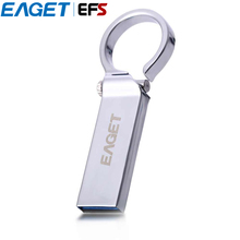 EAGET U96 USB 3.0 Flash Drive Outstanding Design with Ring UDP Waterproof Pendrive 16GB 32GB 64GB USB Stick(China)
