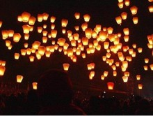 2016 Free Shipping 100pcs Hot Sale Chinese Kongming wishing Lantern Flying Sky balloon Lantern paper lantern Lamp chinese sky la(China)