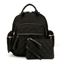 New Backpack Women Black Shoulder 2 pics Famous Brand Ladies Bags For Teenage Gilrs bags(China)