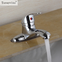 Torayvino US Deck Mount Chrome Bathroom Faucet Vanity Vessel Double Hole Sinks Mixer Tap Cold And Hot Water Tap Faucet(China)