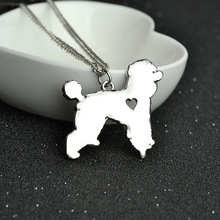 Teddy Necklace Dainty Pendant Puppy Heart Dog Lover Memorial Pet Pendants Necklaces For Women Animal Charms Christmas Gift