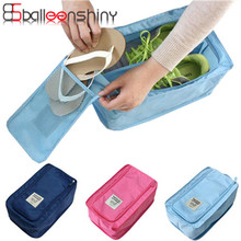 BalleenShiny Nylon Portable Shoes Storage Bag Travel Necessity Accessories Waterproof Organizer Pouch Suitcase Case Storage Tool(China)