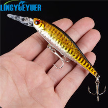 1PCS/lot 10 cm 9 g Fishing Lure Minnow Hard Bait with 2 Fishing Hooks Fishing Tackle Lure 3D Eyes