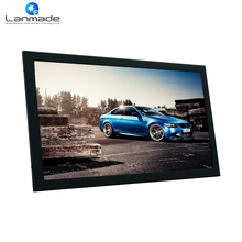 15.6 in auto loop play video advertising screen 12v dc led tv
