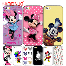 HAMEINUO mickey and minnie cute cell phone Cover case for iphone 6 4 4s 5 5s SE 5c 6 6s 7 8 plus case for iphone 7 X(China)