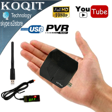 Mini Size V9 Plus Full HD Digital DVB-S2 Satellite Receiver Support WiFi 3G Youtube PVR Cccam Power Vu Biss IKS Set Top Box