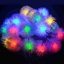 NEW 4.8M 20 LEDS Snow ball Dandelion Solar String Lights For Christmas Party Garden Lamp Home Waterproof Outdoor Light