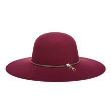 2017 new Winter Wool Fedora Vintage Black Wine Red Ladies Wide Brim Felt Bowler Party Church Hats For Women free shipping