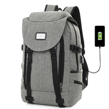 Large Capacity Backpack Men USB Charging Laptop Travel Backpacks Women Purple Bag Headphone Hole Daypack for Teenage Rucksack