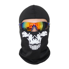 Motorcycle SKULL Ghost Face Windproof Mask Beanie Hat Outdoor Sports Warm Ski Mask Caps Bicyle Bike Balaclavas Bonnet Scarf Man(China)