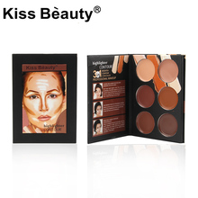 kiss beauty Natural Professional 6color Concealer Palette Contouring Makeup Cosmetic Foundation Facial Face Cream Palette(China)