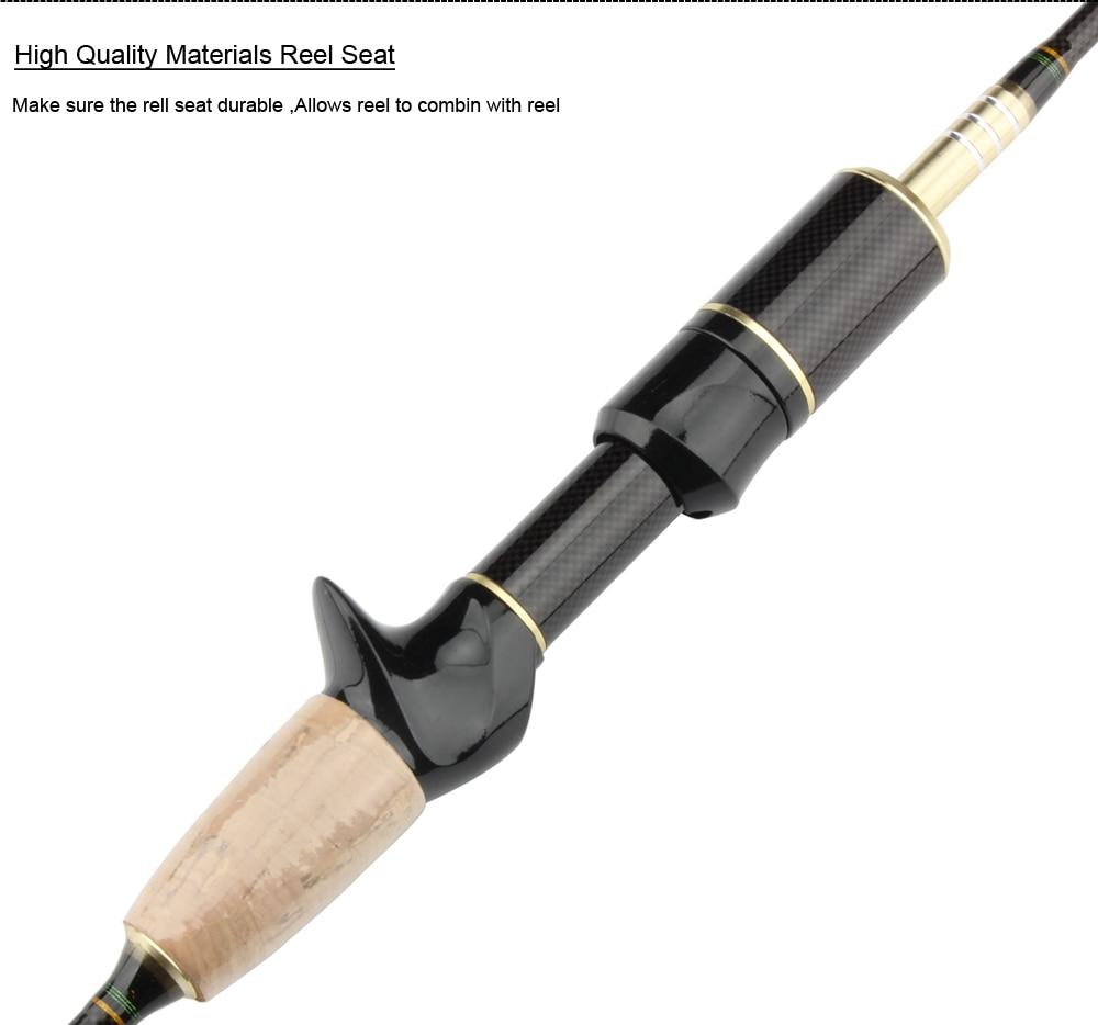 Spinpoler 1.8m Soft Casting Spinning Lure Fishing Rod Pole Cane 0.8-5g, 2-5LB Carbon Fiber Ultra Light Spin Rod  (6)