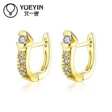 2016 New Arrival gold color earrings fashion jewelry gold color earrings gift nausnice Jewelry supplier Romantic