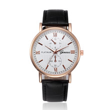 2017 New Wholesale Male watch sports Luxury brand Mens Wristwatches Retro Design Leather Band Analog Alloy Quartz Watch Genuine