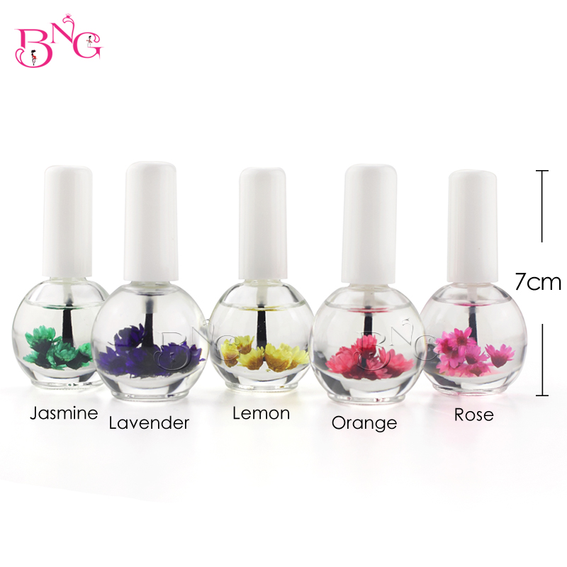 BNG 1pc 14ml Dry Flower Nourishment Oil Nail Cuticle Processing Tools Nutritional Nail Oil UV Gel Nail Treatment Lacquer 10