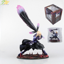 Action figure Fate/stay night Black Saber cartoon doll PVC 18cm box-packed japanese figurine world anime FT18(China)