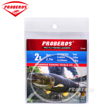 PRO BEROS 10 Pieces Tapered Leader Fly Fishing Line 9FT 0X-6X Nylon Fly Fishing Leader Clear(China)