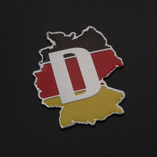 BBQ@FUKA Germany Map Flag Boot Emblem Fit For VW Golf Polo Passat GTI CC Bora PAssat Tiguan Car Rear Badge Sticker Aluminum