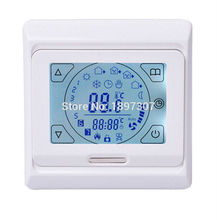 M9(E91) 16A touch screen underfloor heating thermostat for good quality with floor sensor 3M temperature control system(China)