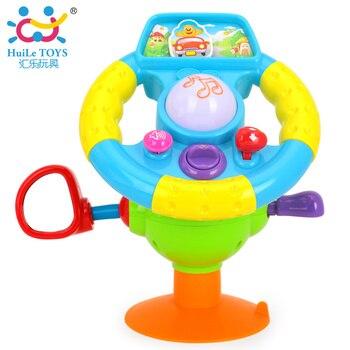 Nouvelle HUILE TOYS 916 Bébé Toys Conduite Volant pour les Enfants, équipée avec des Lumières, miroir, musique, D'entraînement différents Sons Cadeaux