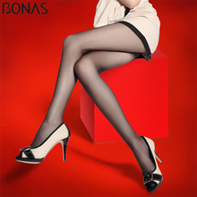 Buy BONAS Women Sun Protection Tights 20D Sexy Breathable Pantyhose High waist Nylon Tights Girl Stretchy Resistant Slim Stockings