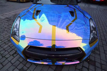 Holographic Rainbow Neo Chrome Car Vinyll film all size suitable(China)