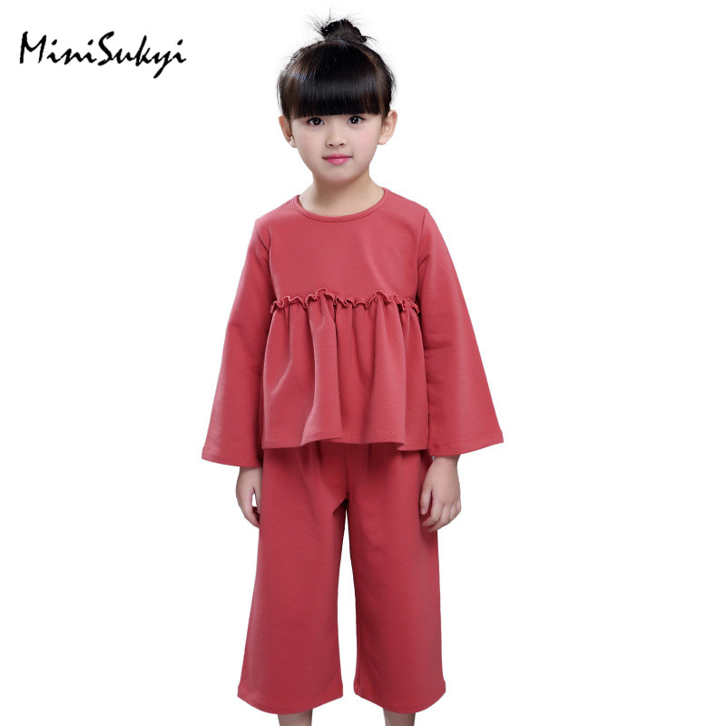 Spring Autumn Baby Girls Clothing Sets Fashion Sweatshirt + Wide Leg Pants Suit Sets For Girl Kids Brand Tracksuit Girls Clothes<br><br>Aliexpress