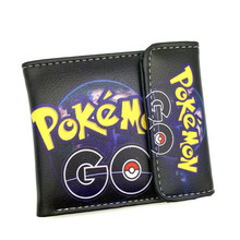 Free Shipping Anime Cartoon Wallet Game Poke Go Pocket Monster Purse Three Fold Wallets(China)