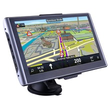 Luturadar 7 inch HD Car GPS Navigation Bluetooth Capacitive Touch Screen vehicle Truck Vans GPS navigator FM UK Europe Map(China)