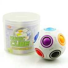 Magic rainbow ball magic Football Puzzle ball cube Spherical creative Educational toys for children gift(China)