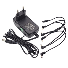 9V AC Europe EU Plug Power Adapter  and 5 way Daisy Chain Power Cable for Guitar Effect pedal