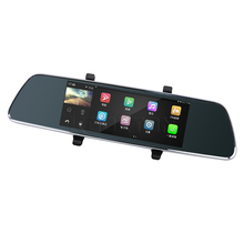 Car 7 inch Android GPS Navigation DVR Video Recorder Full HD 1080P Dual Camera Rear View Mirror New WiFi DVR